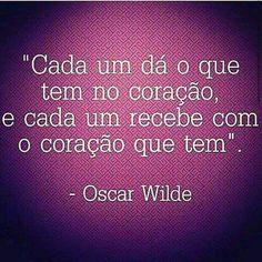 Sobre doaçoes - Oscar Wilde