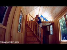 Tiny home packs storage stairs, two lofts, tub in 136 sq ft - http://www.freecycleusa.com/tiny-home-packs-storage-stairs-two-lofts-tub-in-136-sq-ft/