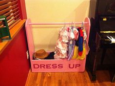How to organize kids dress up clothes