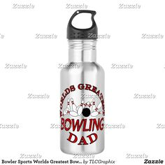 Bowler Sports Worlds Greatest Bowling Dad Stainless Steel Water Bottle Best Dad Gifts, Cool Gifts, Gifts For Dad, Stainless Steel Water Bottle, Bowling, Dads, Cool Stuff, Sports, Fathers