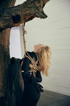 Cate Blanchett Magazine Photoshoot Rope Tied