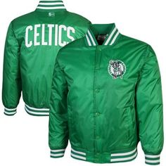 Majestic Boston Celtics Youth Satin Button-Up Jacket – Kelly Green