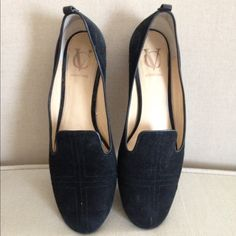 Vince Camuto Signature Black Suede Smoking Flat Vince Camuto Black Suede Smoking Flat. Worn once. Mint condition. Beautiful. Didn't work with outfit. Make me an offer. Just sitting in my closet. Vince Camuto Shoes Flats & Loafers