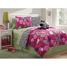 @Overstock - This zebra comforter is reversible so you'll feel like you're getting two comforters for the price of one. The included stuffed animal adds coziness and cuteness to this comforter set.http://www.overstock.com/Bedding-Bath/Zebra-Reversible-4-Piece-Full-Size-Comforter-Set/6637979/product.html?CID=214117 $59.99