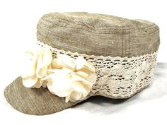 Cute shabby chic hat for the summer, love the lace!
