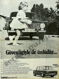 Fiat 124 – Tofaş Murat 124 Türkisch Ad – Erdem Deniz – Join in the world of pin Old Poster, Fiat 500 Pop, Best Of Italy, Fiat Abarth, Good Old Times, Steyr, Car Drawings, Old Ads, Car Car
