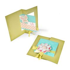 Hello Butterfly Square Flip-it by Cara Mariano - Scrapbook.com