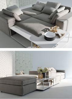 Sectional upholstered fabric #sofa GRAF by MDF Italia | #design Victor Vasilev