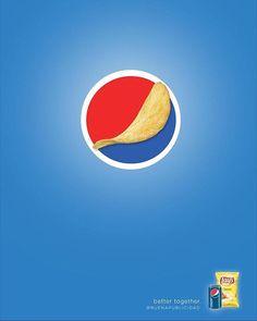 Pepsi y Lay's: «Mejor juntos». Genial!  #Ad #Pepsi #Lays #buenapublicidad #Gráfica
