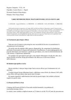 Varie ricerche del Dott. Luigi Langella sul ciclo anovulare.