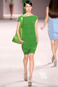Akris SS12 via Style.com.#lifeinstyle #greenwithenvy