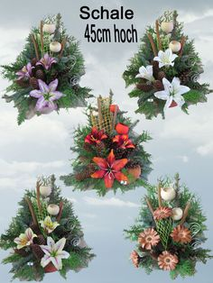 D50+Grabgesteck+Totensonntag+Gesteck+Allerheiligen+von+Blumen-Sprockhoff+auf+DaWanda.com Funeral Arrangements, Christmas Arrangements, Flower Arrangements, Cemetery Decorations, New Years Decorations, Grave Flowers, Funeral Flowers, Christmas Wreaths, Christmas Decorations