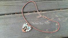 Amazonite choker Tree of Life pendant necklace Heart pendant