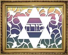 Mizrach Jewish Star fun crafts to make with craft knife. Craft your own papercutting art