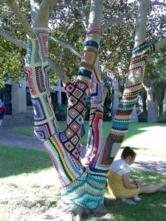 Knitted Tree   Flickr - Photo Sharing!