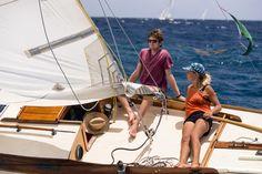 Lorema sailing in the Antigua Classic Yacht Regatta, Old Road Race.