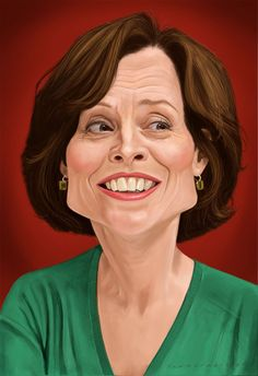 Sigourney Weaver by Mark Hammermeister, via Behance