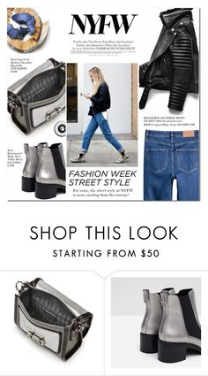 """""""Day One: The Best NYFW Street Style"""" by alessandra-mv ❤ liked on Polyvore featuring Karl Lagerfeld, Zara, Melissa, H&M, women's clothing, women, female, woman, misses and juniors"""