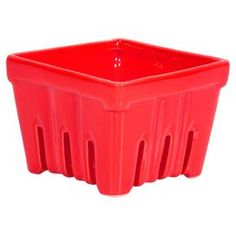 "Ceramic berry basket in red.   Product: BasketConstruction Material: CeramicColor: RedDimensions: 6"" HCleaning and Care: Hand wash"