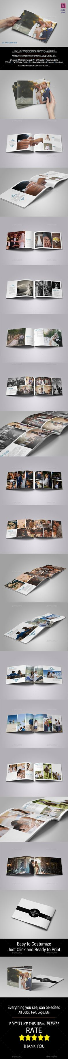 Simple Wedding Photo Album | Wedding photo albums, Simple weddings ...