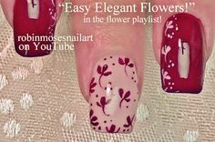 Nail-art by Robin Moses Easy Flower Nail art