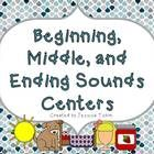 Beginning, Middle, and Ending sounds centers $