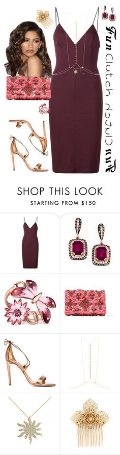 """""""Fun clutches contest + body necklace 💕"""" by prettycatty ❤ liked on Polyvore featuring T By Alexander Wang, Effy Jewelry, Coleman, Gucci, Oscar de la Renta, Aquazzura, Arme De L'Amour, Allurez and Miriam Haskell"""