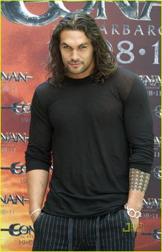 Jason Momoa: 'Conan the Barbarian' Photo Call in Madrid!