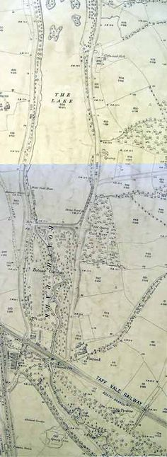 An ordnance survey plan showing Roath Park. Latitude Longitude, Cardiff, Wales, Map, How To Plan, History, Historia, Welsh Country, Location Map