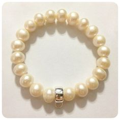 White Freshwater Pearl & Sterling Silver Charm by ChanatipJewelry, $35.00