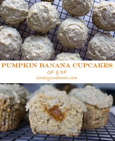 Gluten and dairy free pumpkin banana cupcakes with a chai cashew frosting