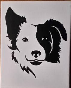 Border Collie Dog Love Breed Vinyl Car Decal Bumper Window Sticker Any Color Multiple Sizes Jenuine Crafts Dog Outline, Arte Tribal, Dog Silhouette, Silhouette Tattoos, Wall Tattoo, Collie Dog, Dog Tattoos, Dog Art, Dog Clip Art