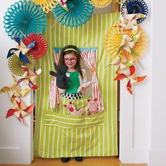 Kids Theater: Travel Hanging Puppet Theater in Imaginary Play For Elise, Land Of Nod, Paper Fans, Finger Puppets, Hand Puppets, All Toys, Baby Store, Pretend Play, Crate And Barrel