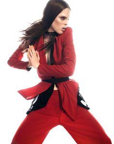 coco rocha leather harness