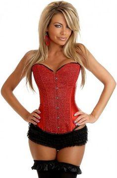 Red Generous Breast Enhancement Beauty Body Cheap Corset Bustier Tops Online [Q5206] - $50.00 : Fashion Bustier Corset Tops Dress Sale, Up 50% Off