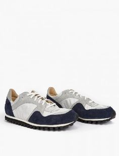 Spalwart Grey and Navy Suede Marathon Trail Sneakers The Spalwart Suede Marathon Trail Sneakers for SS16, seen here in grey and navy. - - These understated sneakers from Spalwart are crafted to impeccable standards from premium suede. They are finished  http://www.MightGet.com/january-2017-13/spalwart-grey-and-navy-suede-marathon-trail-sneakers.asp