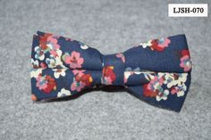 Men-Vintage-Cotton-Flower-Floral-Grids-Checks-Bowtie-Pre-Tied-Adjustable-Bow-Tie