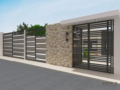 modern home exterior wall design house front decoration ideas 2019 Home Gate Design, Exterior Wall Design, Modern Fence Design, Modern House Design, Decoration Facade, Small House Renovation, Garage Gate, Gate House, Grill Design