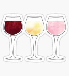 Pegatina Wine Glasses