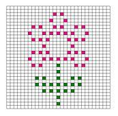 Ravelry: 5 Flower Bobble Chart Patterns by Kari Philpott