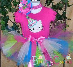 Hello Kitty Rainbow Tutu Set
