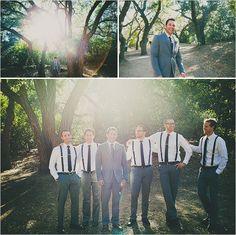 groomsman ideas-suspenders instead of vests? Groomsmen Outfits, Groom And Groomsmen Attire, Bridesmaids And Groomsmen, Cute Wedding Ideas, Wedding Pictures, Perfect Wedding, Dream Wedding, Wedding Photography Inspiration, Wedding Inspiration