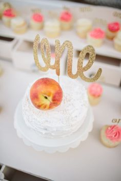 Peach First Birthday Party - Project Nursery