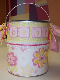 Baby Gift Can and I may make mom one too!
