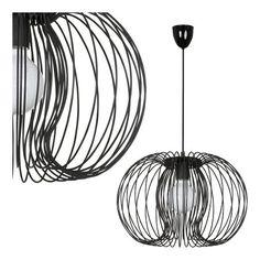 LAMPA wisząca 5301 dekoracyjna OPRAWA druciana czarny