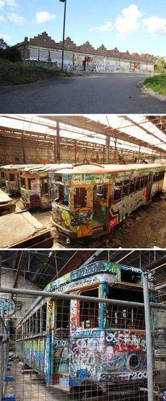 Rozelle Tram Depot Glebe Sydney Australia graffiti