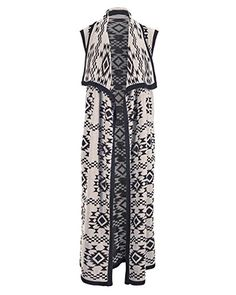 Coco + Carmen Women s Sedona Sleeveless Duster  This duster length knit  cardigan features an eye catching print 8d1f6f654