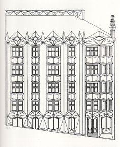 "Josef Chochol - Apartmenthaus ""Hodek"", Prague, 1914"