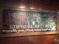 New Starbucks Reserve board