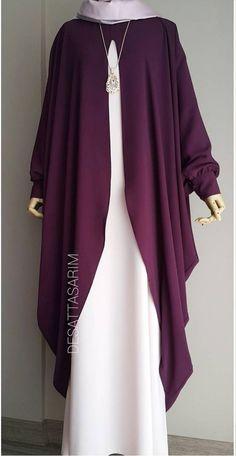 Fancy Dress Design, Stylish Dress Designs, Designs For Dresses, Muslim Women Fashion, Islamic Fashion, Abaya Fashion, Fashion Outfits, Mode Abaya, Hijab Fashionista
